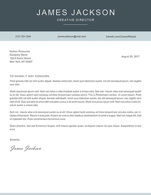 download free cover letter templates