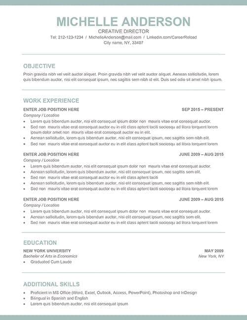free professional resume template - Free Professional Resume