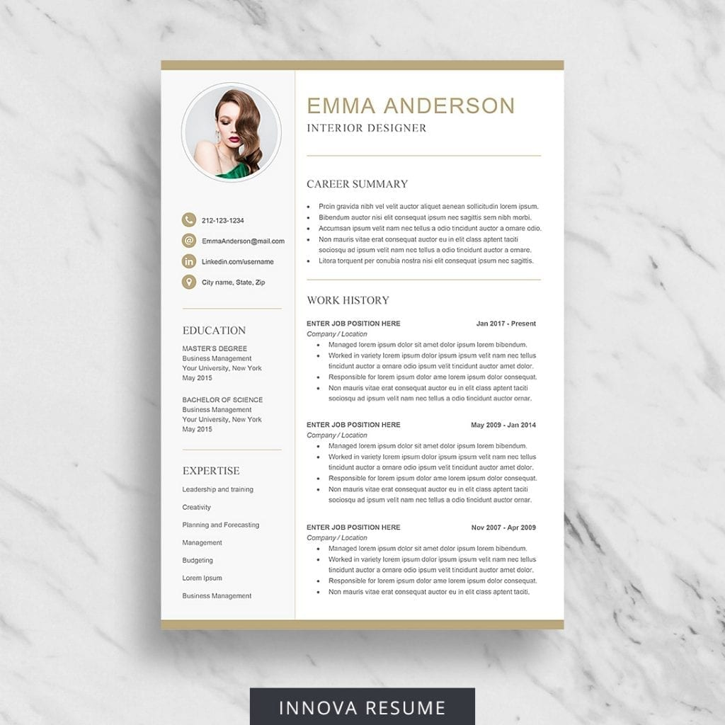 free ats resume template - carrie