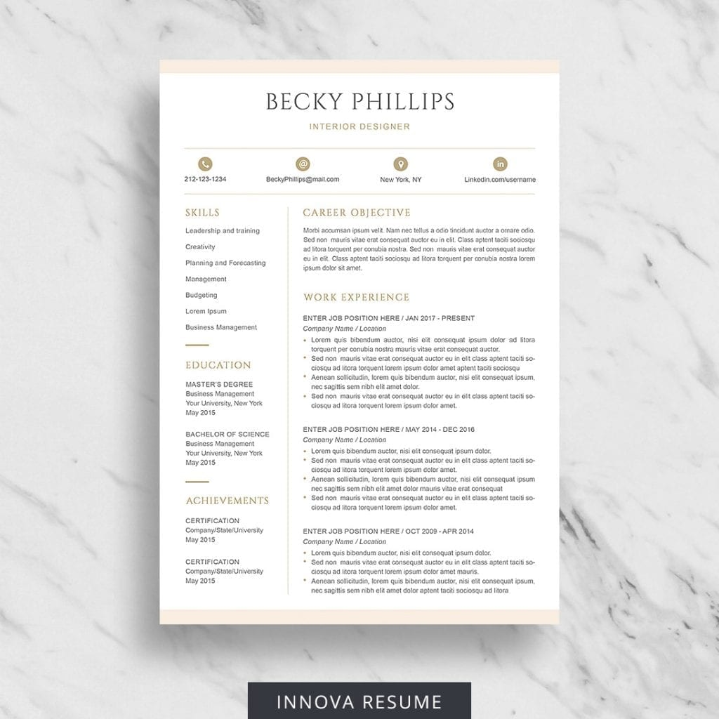 free entry-level resume template - avery
