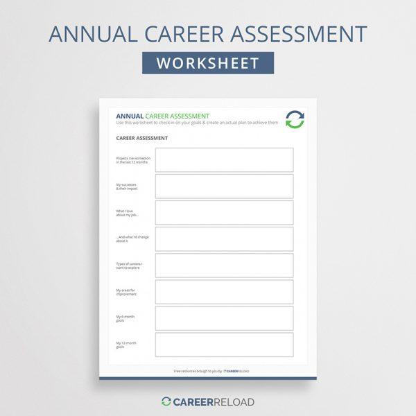 Annual assessment worksheet