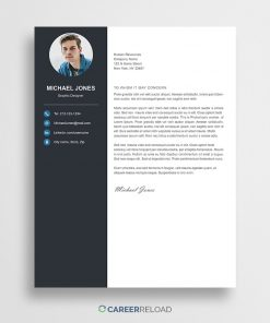 Cover letter template for Photoshop