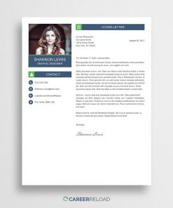 PSD cover letter template