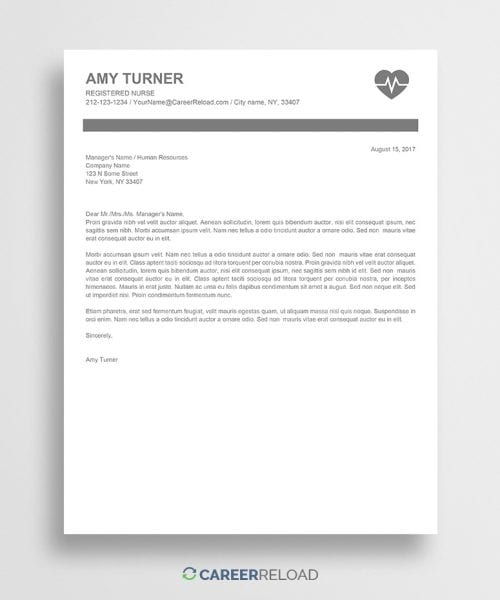 free nursing cover letter