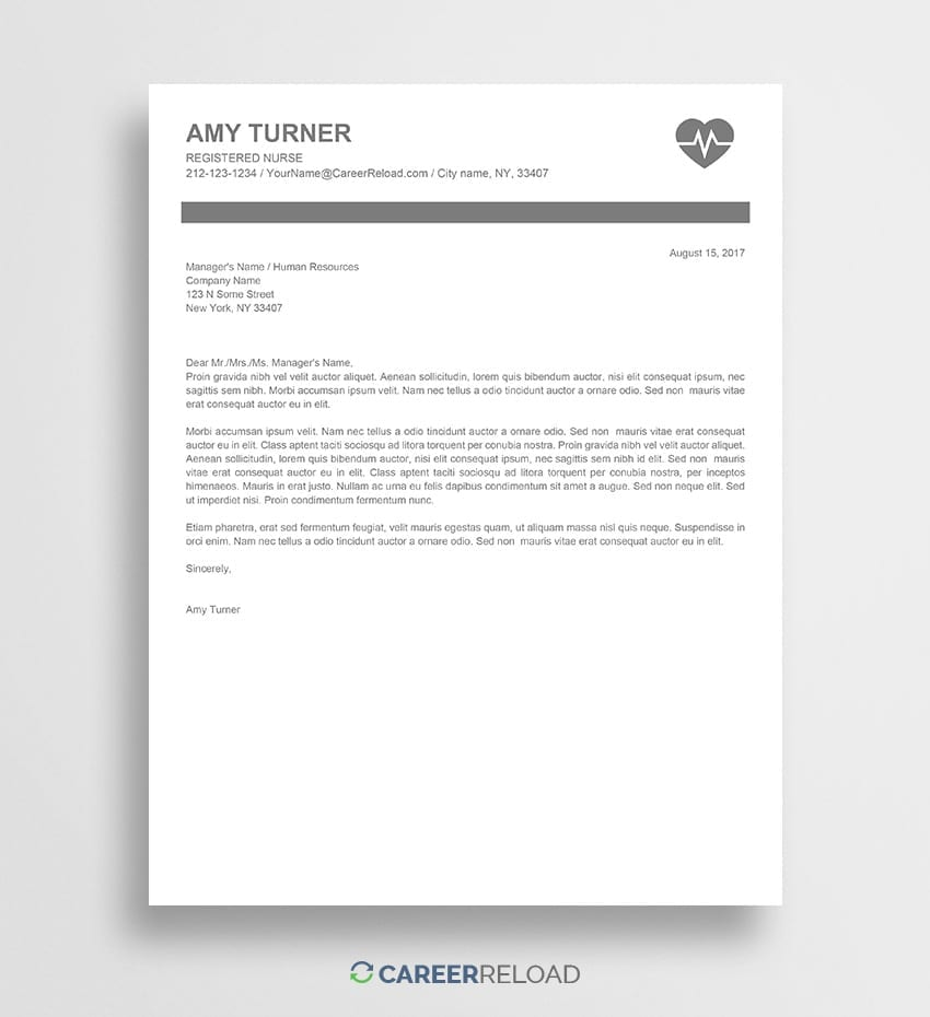 free nursing cover letter