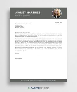 free cover letter with photo