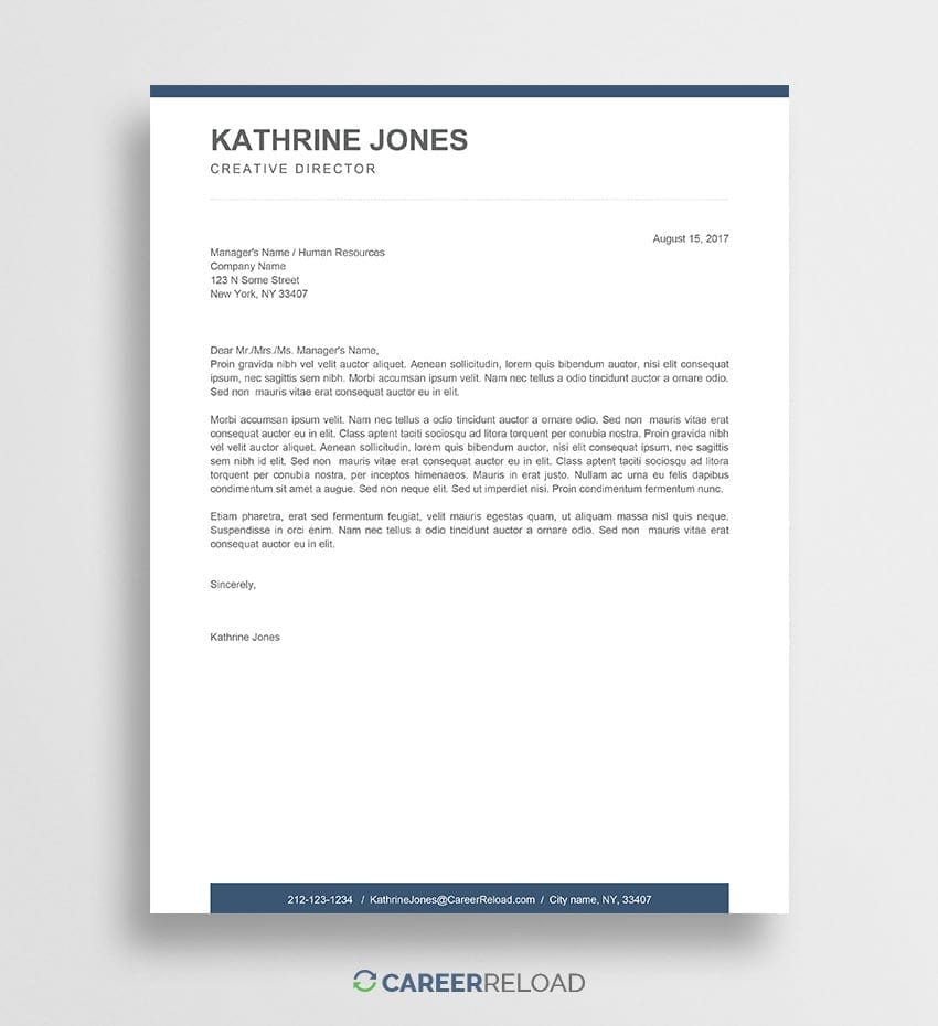 Free cover letter download