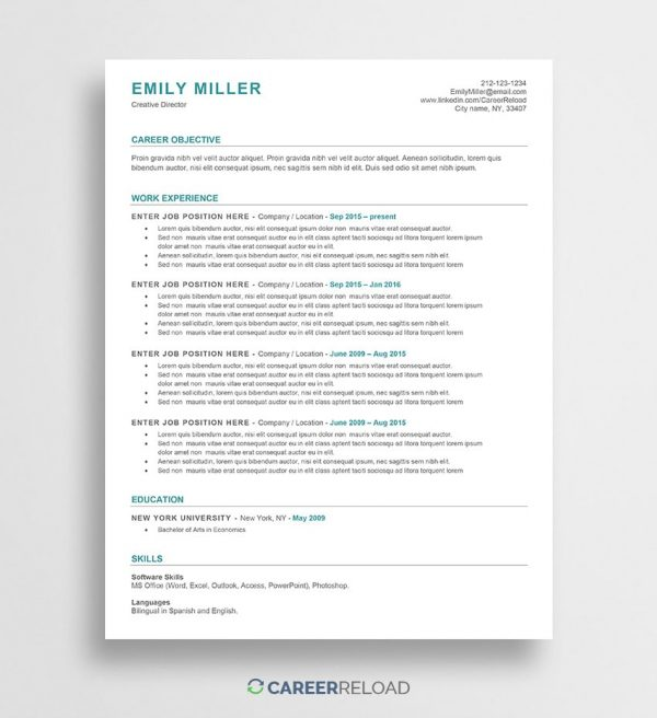 ATS-friendly resume template
