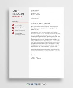 Word cover letter template