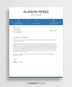 Free cover letter template for Word