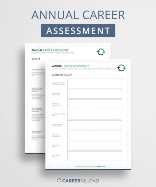 Annual assessment worksheet