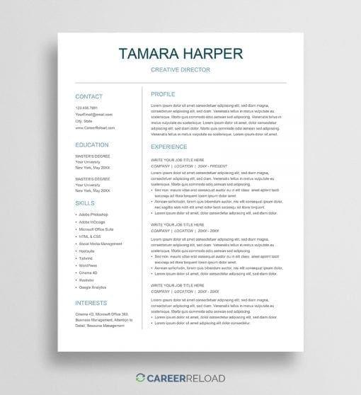 Free Google Docs CV template download