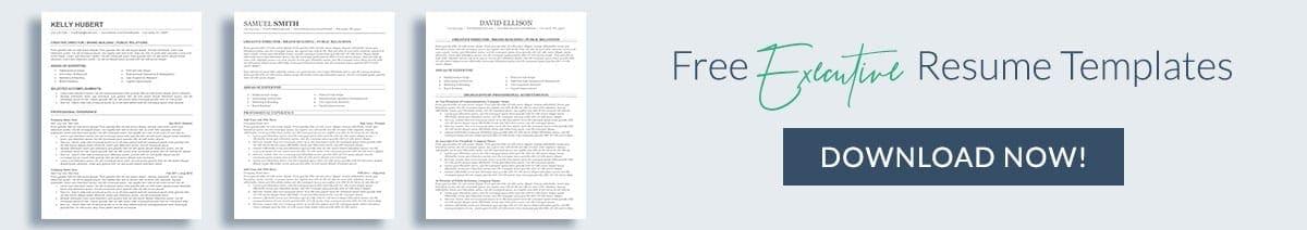 Free executive resume templates