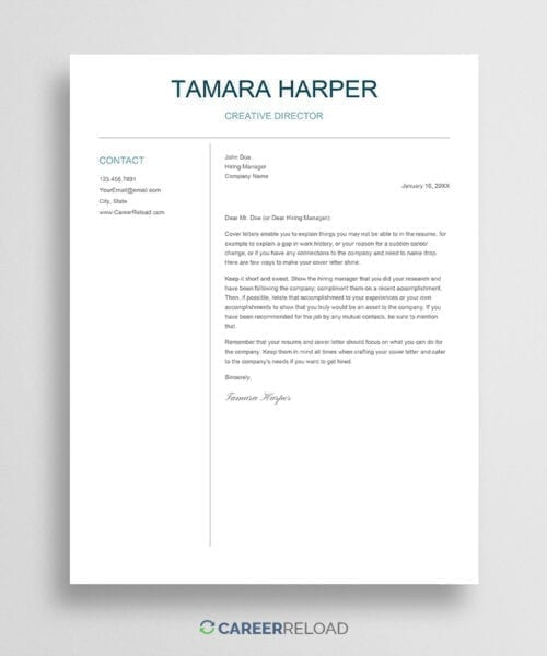 Download Google Docs cover letter