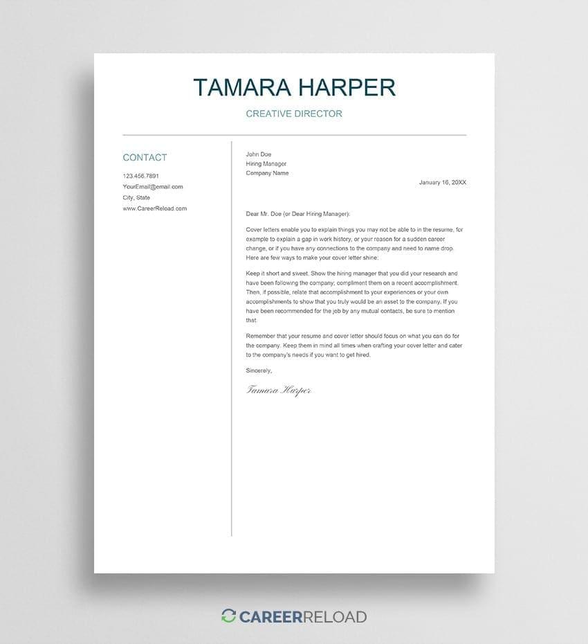 Download Google Docs cover letter