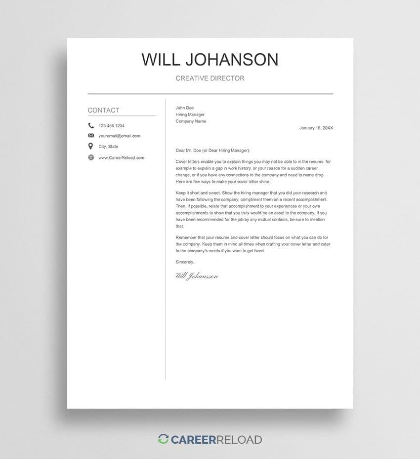 Google Docs cover letter