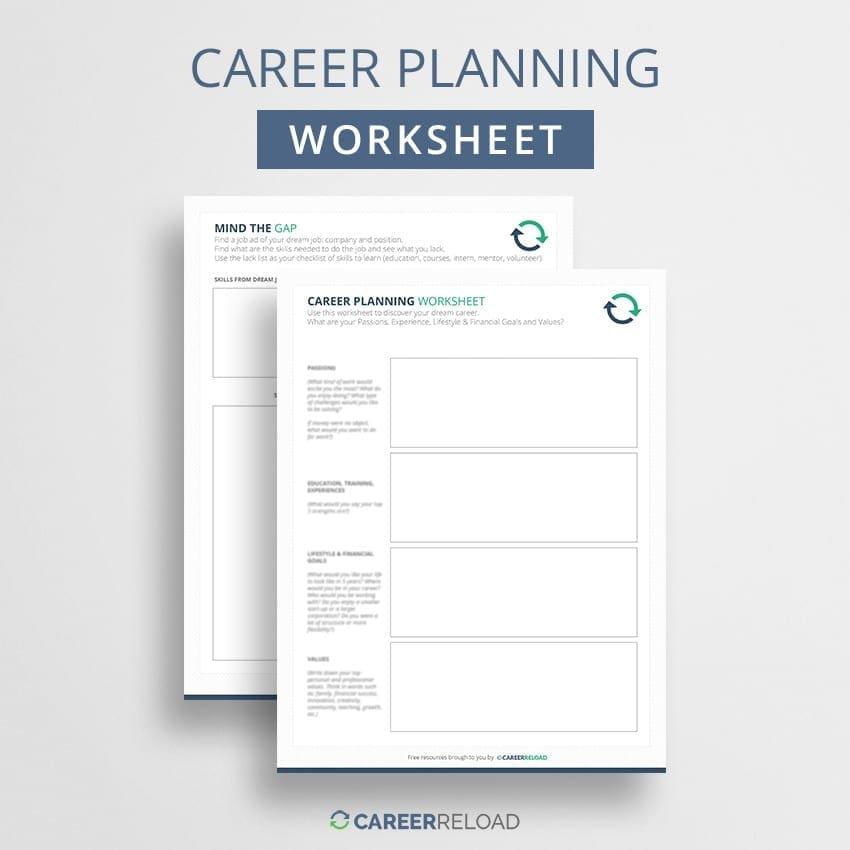 Career planning worksheet